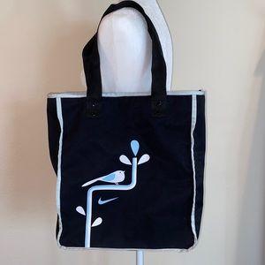 Nike bag, black with Blue & white